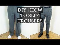 DIY | How To Slim & Shorten Suit Trousers | Josh Barnett - YouTube