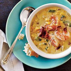 How to Make Bacon-Corn Chowder with Shrimp