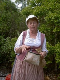 Historically Costumed Margaret Firth  from our Sister City Hamilton, Ontario, Canada at Spanish Point