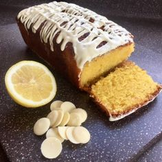 I made this lovely white chocolate and lemon drizzle cake for brunch with some friends. I'm really rather delighted with the result! Chocolate Buttons, White Chocolate, Lemon Drizzle Cake, Skewers, Oven, Cheesecake, Brunch, Cooking Recipes, Yummy Food
