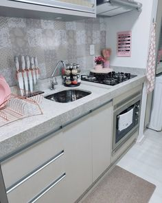 One Bedroom Apartment, Small Apartment Kitchen, Apartment Design, Room Decor Bedroom, Dream Home Design, Home Office Design, House Design, Kitchen Room Design, Kitchen Decor