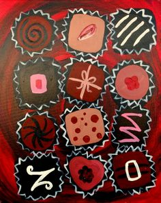 Life is Like a Box of Chocolates - Pinot's Palette The Woodlands - Valentine's Day Inspiration