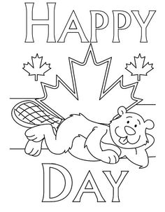 National Canada Day Coloring Pages for Childrens