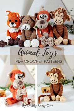 Learn how to get started with amigurumi with those easy crochet patterns. Beginner friendly DIY projects are perfect for any crocheter who loves to crochet animal toys. #amigurumipattern #animalcrochet #lovelybabygift #haakpatroon #amigurumi Crochet Animal Patterns, Stuffed Animal Patterns, Knitting Patterns, Crochet Gifts, Diy Crochet, Baby Shower Gifts For Boys, Baby Gifts, Easy Amigurumi Pattern, Amigurumi Doll