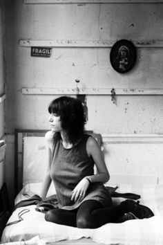 Patti Smith in her bedroom in the Hotel Chelsea, 1971, by David Gahr