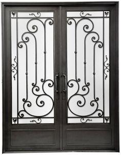 Puerta de entrada de hierro forjado — Del Hierro Design                                                                                                                                                      Más
