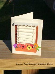 Window Blind Card SVG Cutting File