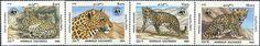 Postage Stamps - Afghanistan 1985 W.W.F. Leopard (4) UM