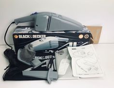 BLACK AND DECKER Autovac 12v CAR / CARAVAN VACUUM BOXED AV2 car Hoover #BLACKDECKER Caravan, Vacuums, Ebay, Black, Truck Camper, Black People, Vacuum Cleaners, Motorhome, Camper Trailers