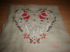 Mes petites croix - Coeur de noel isa vautier