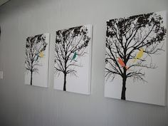 "@Lisa Phillips-Barton Kuhlman u could do this for the ""family tree"" and just use brown paint, instead of black."