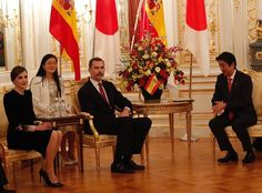 King Felipe and Queen Letizia met with Shinzo Abe and Akie