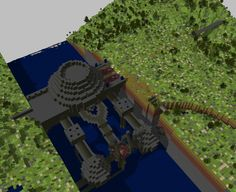 Emergent architecture in Dwarf Fortress, with fan-built 3D rendering