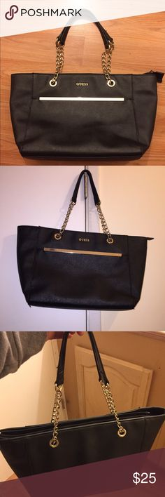 Guess tote bag Nice roomy bag from Guess in good condition. Perfect for work or school. Guess Bags Totes