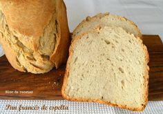Pan francés crujiente en panificadora - Trigo vs. Espelta Bread Soup, Pan Bread, Bread Baking, Bread Machine Recipes, Bread Recipes, My Recipes, Favorite Recipes, Our Daily Bread, Bread And Pastries