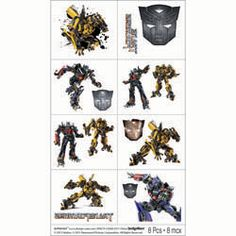Transformers Party Supplies, Transformers 3 Tattoos, Favors