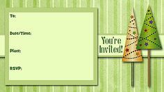 Christmas Party Free Printable Fill-In Invitations