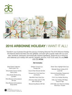 "2016 Arbonne Holiday "" I Want It All"" Shop @ http://luzmariaheredia.arbonne.com…"