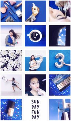 Inspiração para organizar o Feed do Instagram por cores - Feed azul do Blah!Blog (@blah_blog) - Blue feed