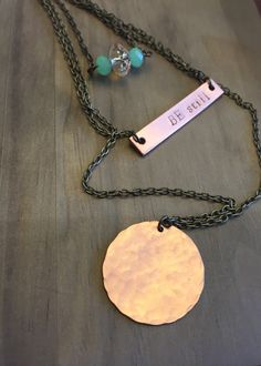 Be Still, layered copper necklace by JustStampItGifts on Etsy https://www.etsy.com/listing/261674860/be-still-layered-copper-necklace