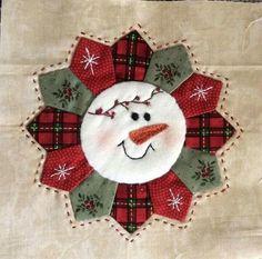 Snowman Quilt Block by deena Christmas Quilt Patterns, Christmas Sewing, Quilt Block Patterns, Quilt Blocks, Christmas Quilting, Christmas Snowman, Christmas Blocks, Quilt Kits, Patchwork Quilting