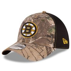 Boston Bruins New Era Neo 39THIRTY Flex Hat - Realtree Camo Black de906ce30aee
