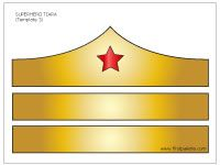 wonder woman printable tiara