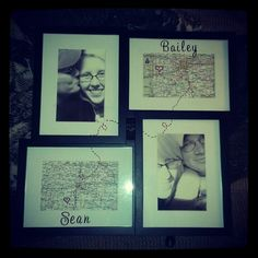 O0O0O0OH MORE CORNY CRAFTS :D  Long distance relationship picture frame