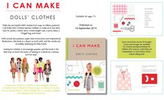 I can make doll's clothes New Books, I Can, Skater Skirt, Doll Clothes, Kids Outfits, Barbie, Mood, Canning, Dolls