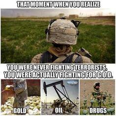 Gold, Oil, Drugs