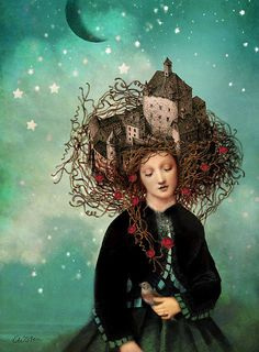 """Sleeping beauty's dream"" Art Prints by Catrin Welz-Stein Art And Illustration, Art Fantaisiste, Dream Art, Pop Surrealism, Wassily Kandinsky, Whimsical Art, Surreal Art, Art Plastique, Painting & Drawing"