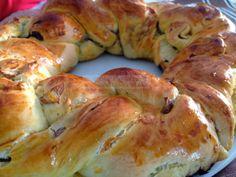 Pan Brioche salato al radicchio e formaggio