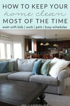 Feel like your home is always a mess and disorganized? These practices make such a difference. Deep Cleaning Tips, House Cleaning Tips, Cleaning Solutions, Spring Cleaning, Cleaning Hacks, Cleaning Checklist, Cleaning Crew, Cleaning Wipes, All You Need Is
