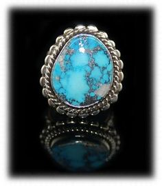 Amazing example of Morenci Turquoise Ring up for sale on eBay now from www.gemstone-silver-jewelry.com