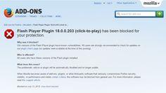 Mozilla luego de las últimas noticias negativas sobre Adobe Flash Player dijo basta y bloquea plugin