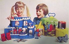 "mr rogers playset | did an ""enhance"" on the photo, enlarging, straightening, sharpening ..."