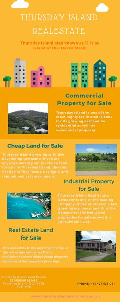 Thursday Island can definitely be a smarter option for someone looking for the commercial property for sale.