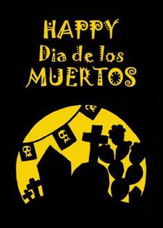 Happy Dia de los Muertos! #card #Day_of_the_Dead