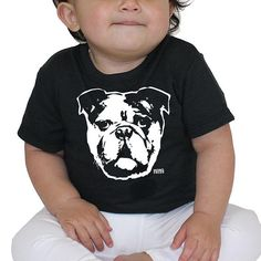 Bulldog Baby Clothes, Baby Tshirt For Bulldog Owner, Bulldog Lover Gift, Eco Friendly Tshirt, Tshirt For Kids, Tshirt For Toddlers, 3 to 24M