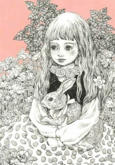 Yuko Higuchi is an artist who has a deep-rooted popularity that Japan is proud of. I will introduce her works that are just a fraction of her world charm. Lewis Carroll, Cute Illustration, Character Illustration, Doodle, Cartoon Sketches, Cat Art, Pet Birds, Illustrations Posters, Art Drawings