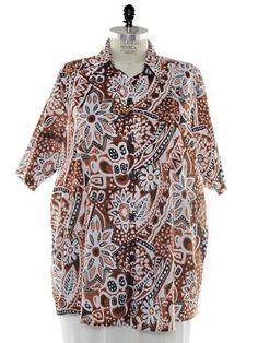 BOP Tops 100% Cotton Poplin Tiki Paradise Print Short Sleeve Tunic Top W/Shirring by WeBeBop (0X) Bop Tops by We Be Bop,http://www.amazon.com/dp/B00BYFM4WW/ref=cm_sw_r_pi_dp_5M5srb06X6PJXSYV