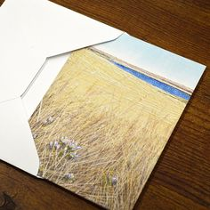 Blank Greeting Card No.3 with Envelope Featuring Images of Prairie Threadpaintings Embroidered by Monika Kinner-Whalen