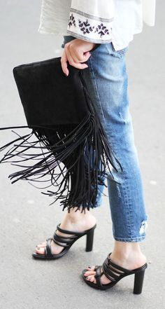 Embroidery And Fringes Styling