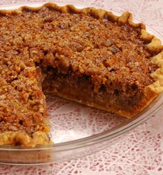Pecan Pie...my moms recipe!   1/2 cup of sugar  1 cup of light karo syrup  1/4 cup butter  3 eggs beaten  1/4 tspn of salt  1/2 tspn vanilla extract  and 1 cup of chopped pecans  mix it all together, poor into pie crust, and bake 30-40 min on 350