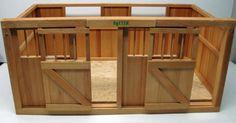 Vintage Wood Breyer Horse Barn Stable Stalls Fence Saddles