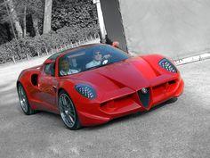 Alfa Romeo Diva, a concept car by Alfa Romeo Centro Stile and Sbarro (2006), based on an Alfa Romeo 159.