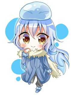 'That Time I Got Reincarnated As A Slime Rimuru Waifu Chibi' by xiaokoong Blue Hair Anime Boy, Blue Anime, Slime, Anime Chibi, Anime Art, Chibi Characters, Korean Art, Cool Sketches, Manga Games