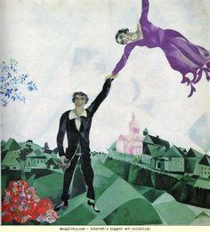 Marc Chagall. The Promenade (La promenade). 1917-18. Oil on canvas