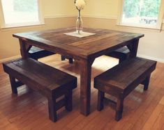 Outdoor Farmhouse Table and Benches by MarylandFarmhouse on Etsy