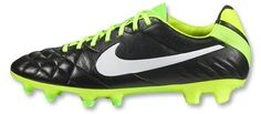 New Nike Tiempo Legend IV in Black Electric Green latest arrival for Spring 2013. Visit us at Vancouver Soccer Store North America Sports or call 604-299-1721. For store hours and location, go to NorthAmericaSports.com
